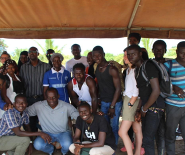 French and Senegalese youth in Soussane, Senegal, summer 2019